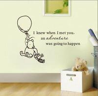 Wall Stickers winnie the pooh advanture happen vinyl decal decor Nursery kids