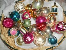 Vintage Lot of 26 Christmas Ornaments- Shiny Brite Poland Premier Various Sizes