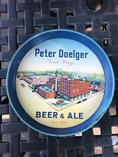 1940's Peter Doelger first prize beer &ale tin tray vintage Factory