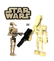 NEW STAR WARS BATTLE DROIDS X4 CLONE WARS MINI BUILDING BLOCK USA SELLER