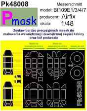 MESSERSCHMITT BF109E-1/3/4/7 PAINTING MASK TO AIRFIX KIT #48008 1/48 PMASK