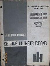 International Harvester Rock Trap for Combine Installing Instructions Book