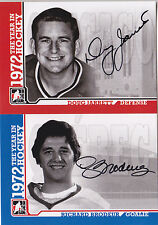 09-10 ITG Richard Brodeur Auto 1972 The Year In Hockey Quebec Nordiques 2009