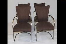 Design Institute of America; Set of 4 Dining Chairs With Brushed Pewter Finish