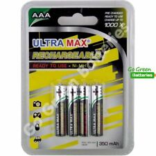 4 x Ultra Max AAA Rechargeable Batteries 350 mAh NiMH HR03 LR03 ACCU phone