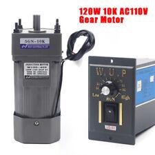 Acgearmotor 120w 110vgear Motor Electric Motor Speed Controller 110 135rpm