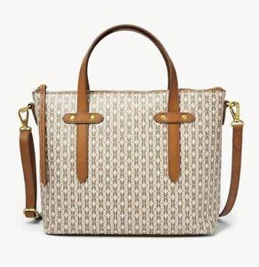 FOSSIL FELICITY SATCHEL CROSSBODY SHOULDER BAG TAUPE TAN $138 ORIGINAL PACKAGING