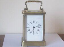 Carro Reloj de latón antiguo francés de trabajo necesita algo de restauración