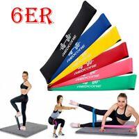 NEU Fitnessbänder 6er Set / Fitnessband Gymnastikband Rubber Band Latexband Z180