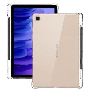 Soft Clear TPU Cover+Pencil Holder for iPad 9.7 Air Pro Mini 2021 Samsung Galaxy