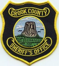 CROOK COUNTY WYOMING WY SHERIFF POLICE PATCH