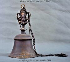 Rare Old Tibet Temple bronze Elephant Jambhala buddha pray Exorcism Bell Zhong