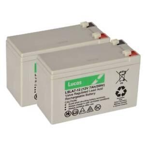 2 x LUCAS 12V 7AH Acorn Superglide 120 stairlift mobility battery pack