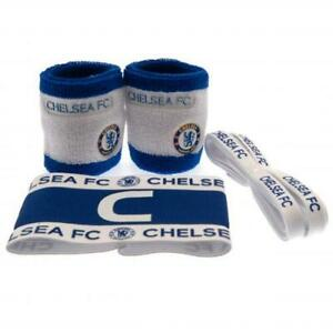 Official CHELSEA FC Football ACCESSORIES SET Arm Band, Wristbands And Laces
