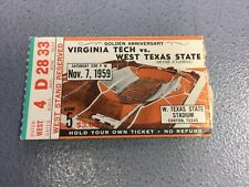 1959 Virginia Tech vs West Texas State University College Football Game Ticket