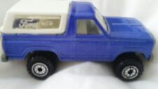 1980 Mattel Hot Wheels Ford Bronco Diecast Blue Shimmer Motorcycle rim variant
