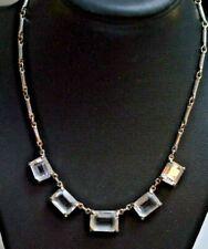 "Swarovski Crystal Adjustable 5 Stone Necklace 16-19"""