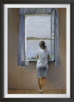 Salvador Dali 'Person at the Window' Surreal Art - A4 Large Print