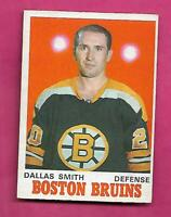 1970-71 OPC  # 137 BRUINS DALLAS SMITH  EX-MT  CARD  (INV# C1508)