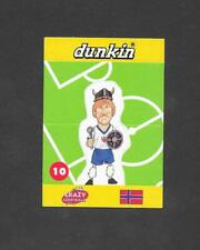 Dunkin Crazy Football 1998 Pop Up card #10 Flo of Norway