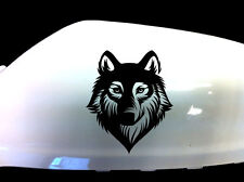 Wolf Werewolf Car Stickers Wing Mirror Styling Decals (Set of 2), Black