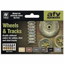 Vallejo Model Air Paint Set - Wheels & Tracks - #71213