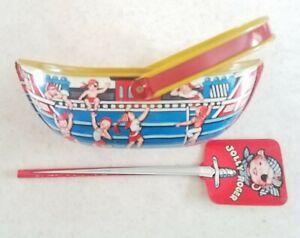 Vintage Jolly Roger Pirate Ship Tin Boat Sand Pail