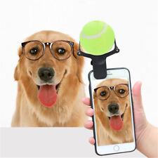 Tennis Selfie Stick Ball Phone Attachment Dog Pet Train Photos Squeaky Toy