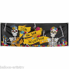 2.2m Halloween Dia De Los Muertos Day Of The Dead Fabric Wall Banner Decoration