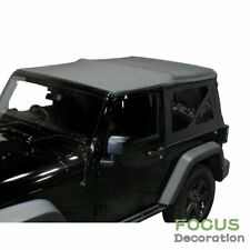 Soft Top Replacement Tinted Windows Black Denim For 1997 2006 Jeep Wrangler Tj Fits Wrangler