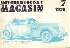 Motorhistoriskt Magasin Swedish Car Magazine 7 1976 Bensinatgang 032717nonDBE