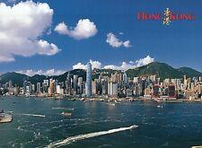 Hong Kong Island, China, Macau Ferry Terminal to the Right, Ships Boats Postcard