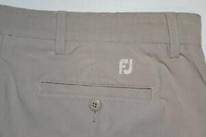 FootJoy FJ Performance Beige Golf Shorts Men 36 Polyester-Spandex EUC B47