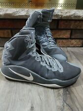 Nike Sneaker Hi Tops Gray Zoom Hyperdunk Basketball 844359-011 Mens Size 13 AIR