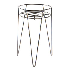 More details for metal flower pot stand wire plant pot holder with legs planter stand m&w silver