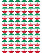 48 x Iran / Iranian Flags - Pre Cut Cupcake Toppers Premium Sugar Icing Sheet