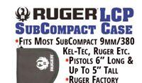 10 NEW FACTORY STURM RUGER LOGO GUN CASE SINGLE PISTOL POUCH 380 LCP