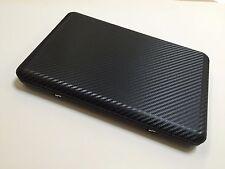 "Black Carbon Fiber Laptop Skin Notebook Decal Vinyl Sticker Lid For up to 15"" PC"