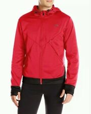 NWT $70 HEAD Men's Athletic Track Casual Jacket Zip Up Hoodie Red Black Large