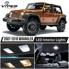 2007-2018 Jeep Wrangler White LED Interior Lights Package Kit + License Light