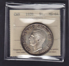 1939 SILVER DOLLAR - ICCS MS-64- Nicely Toned