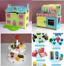 Brand New Wooden Dollhouse Dolls House  doll house Furniture Kitchen cake rack