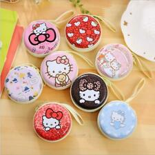 3pcs/set Cute Hello Kitty Rould Coin Purse Bag Small Wallet Headphone Storager