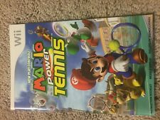 (NO GAME) Mario Power Tennis Wii Instruction Book Manual