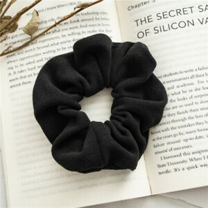 Solid Color Woolen Cloth Hair Rope Tie Rings Rubber Bands Soft Velvet Scrunchies