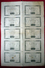 "Banknoten-Bogen mit 10 Assignaten ""de dix Livres"" von 1792            (Art.4079)"