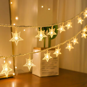 20/40LED Star Lights Battery Fairy String Lights Outdoor Garden Home Room Decor