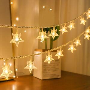 20/40LED Star Lights Battery Fairy String Lights Outdoor Garden Home Room Decor