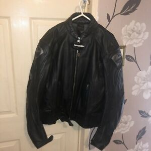 LOOKWELL LEATHER MOTORCYCLE JACKET - LARGE