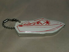 Vintage Nos Floating Key Chain Run Bout Skiboat Boat Water Float